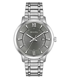 Bulova Men's Classics Stainless Gray Dial Bracelet Watch