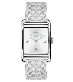 COACH Women's Renwick Stainless Steel Bangle Watch With Signature C Etching