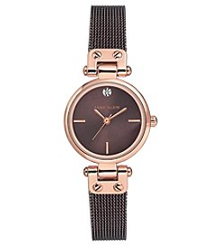 Anne Klein Diamond Dial Mesh Bracelet Watch