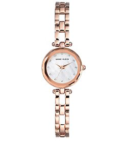 Anne Klein Dress Bracelet Watch with Swarovski Crystals