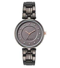 Nine West Women's Bracelet Watch with Crystals
