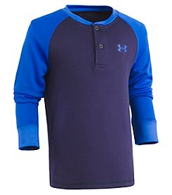 Under Armour Boys' 4-7 Raglan Henley Tee
