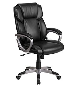 Flash Furniture Mid-Back Leather Executive Swivel Chair