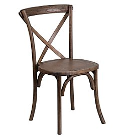 Flash Furniture Hercules Series Stackable Wood Cross Back Chair