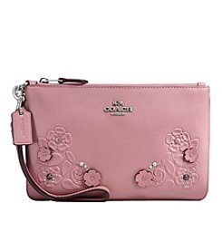 COACH SMALL WRISTLET WITH TEA ROSE TOOLING