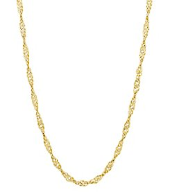 14K Yellow Gold Polished Singapore Twist Link Chain
