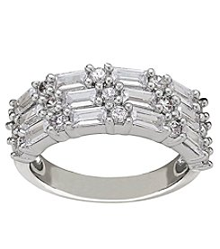 Cubic Zirconia Band in Sterling Silver