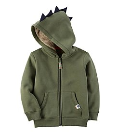 Carter's Boys' 2T-8 Long Sleeve Dino Scales Zip Up Hoodie