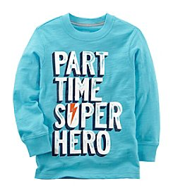 Carter's Boys' 2T-8 Long Sleeve Part Time Super Hero Tee
