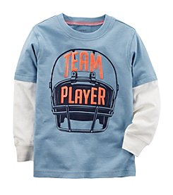 Carter's Boys' 2T-8 Long Sleeve Team Player Layered-Look Tee