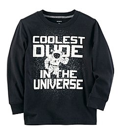 Carter's Boys' 2T-8 Long Sleeve Coolest Dude In The Universe Tee
