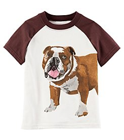 Carter's Boys' 2T-5T Short Sleeve Bulldog Raglan Tee
