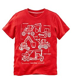 Carter's Boys' 2T-8 Short Sleeve Construction Jersey Tee