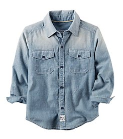 Carter's Boys' 2T-5T Long Sleeve Chambray Button-Front Shirt