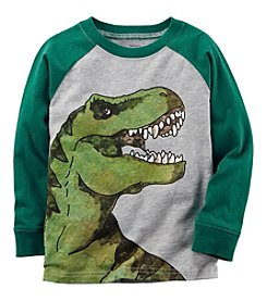 Carter's Boys' 2T- 8 Long Sleeve Dinosaur Raglan Tee