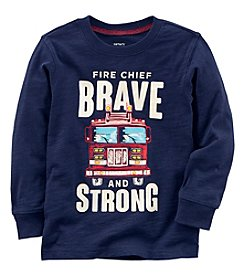 Carter's Boys' 2T-8 Long Sleeve Fire Chief Tee