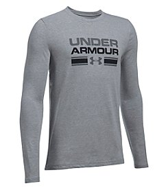 Under Armour Boys' 6-20 Long Sleeve Crossbar Logo Shirt
