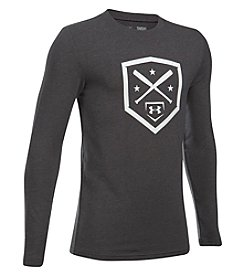 Under Armour Boys' 6-20 Long Sleeve Homeplate Top