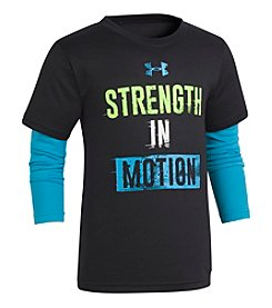Under Armour Boys' 2T-7 Long Sleeve Strength In Motion Slider Shirt