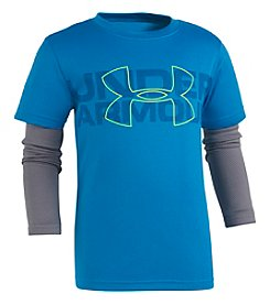 Under Armour Boys' 2T-7 Long Sleeve UA Big Wordmark Slider Shirt