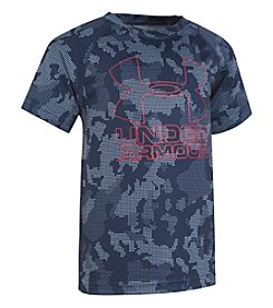 Under Armour Boys' 2T-7 Short Sleeve Big Logo Hybrid Printed Tee