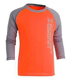 Under Armour Boys' 4-7 Long Sleeve Vertical Wordmark Tee