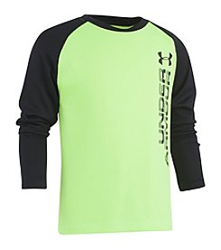 Under Armour Boys' 2T-7 Long Sleeve Vertical Wordmark Reap Shirt