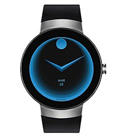 Movado Swiss Connect Black Silicone Strap Smart Watch