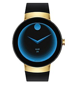 Movado Swiss Connect Black Silicone Strap Smart Watch 46.5 Mm