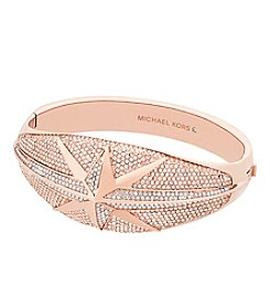 Michael Kors Rose Goldtone Pave Star Bracelet