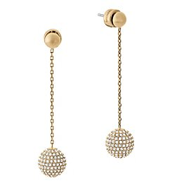 Michael Kors Goldtone Clear Disc Earrings