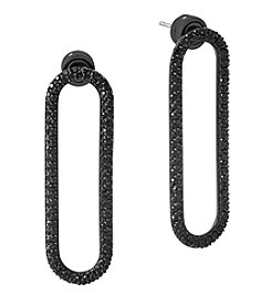 Michael Kors Jet Black Pave Drop Earrings