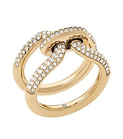 Michael Kors Goldtone Clear Pave Ring