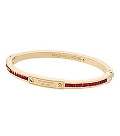 Michael Kors Goldtone Red Plaque Bracelet