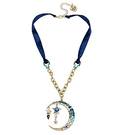 Betsey Johnson Goldtone Moon Pendant Necklace