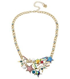 Betsey Johnson Goldtone Star Bib Necklace