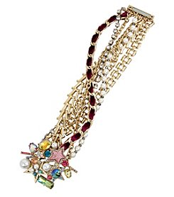 Betsey Johnson Goldtone Star Magnetic Bracelet