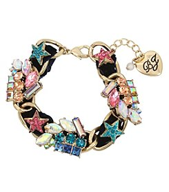 Betsey Johnson Goldtone Star Link Bracelet