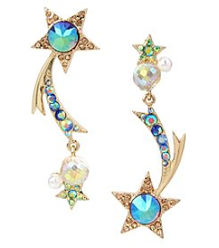 Betsey Johnson Goldtone Shooting Star Earrings
