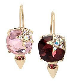 Betsey Johnson Goldtone Stone Drop Earrings