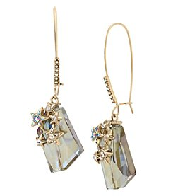 Betsey Johnson Goldtone Star Drop Earrings