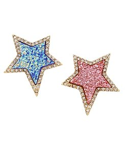 Betsey Johnson Goldtone Star Stud Earrings