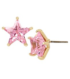 Betsey Johnson Goldtone Cubic Zirconia Star Stud Earrings