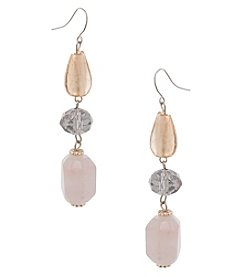 Erica Lyons Make 'Em Blush Triple Drop Earrings