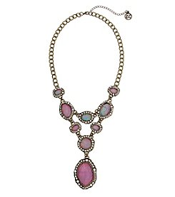 Erica Lyons Goldtone Statement Necklace