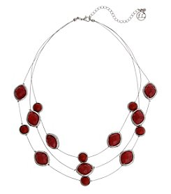 Erica Lyons Red Illusion Necklace