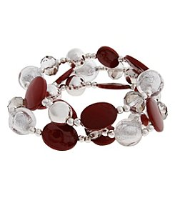 Erica Lyons Three Row Stretch Bracelet