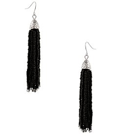 Erica Lyons Black Tassel Earrings