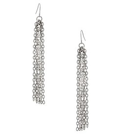 Erica Lyons Silvertone Chain Earrings