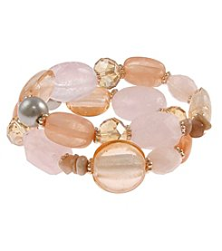 Erica Lyons Make 'Em Blush Stretch Bracelet